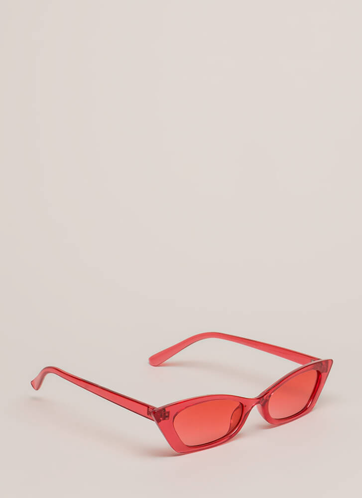 Watch Your Tonal Slim Sunglasses RED