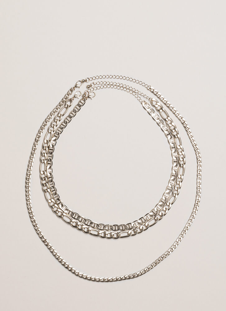 Chain-ge Your Look Necklace Trio SILVER