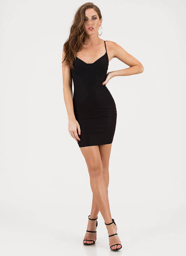 The Perfect Fit Bustier Minidress BLACK