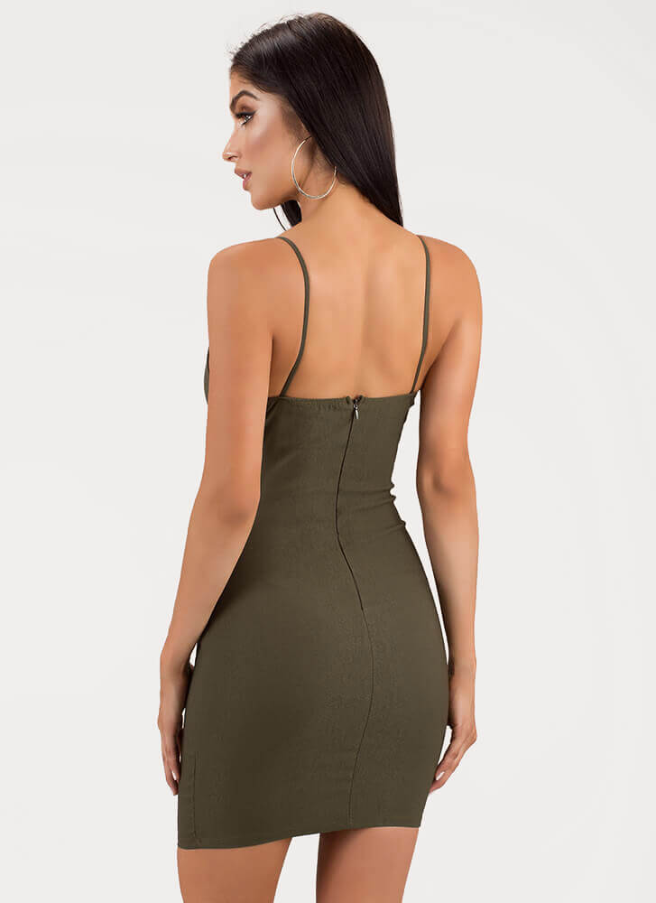 The Perfect Fit Bustier Minidress OLIVE