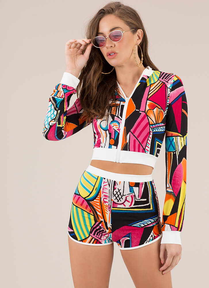 You Got Finessed Abstract 2-Piece Set MULTI