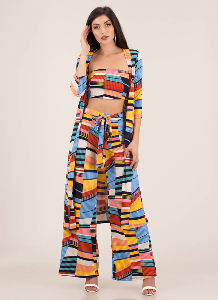 Raise The Bars Striped Three-Piece Set MULTI