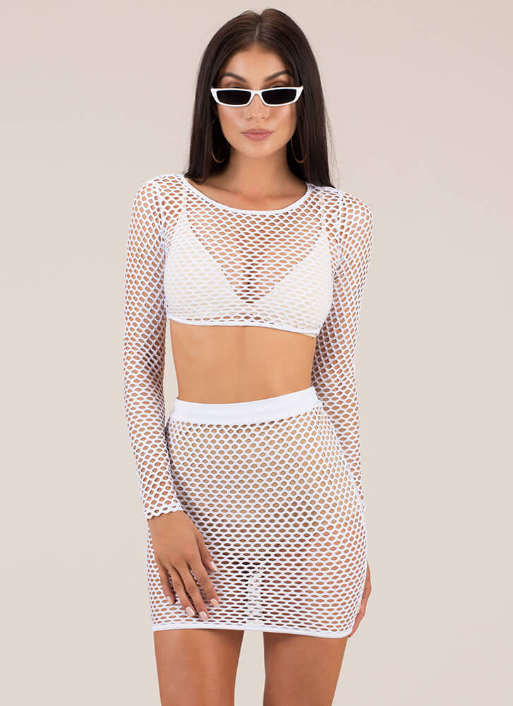 Nothin' But Net Two-Piece Minidress WHITE