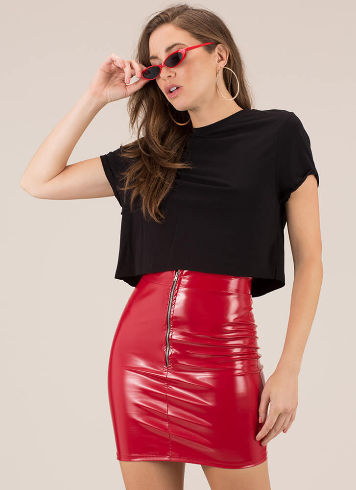 Day In And Day Out Boxy Crop Top BLACK
