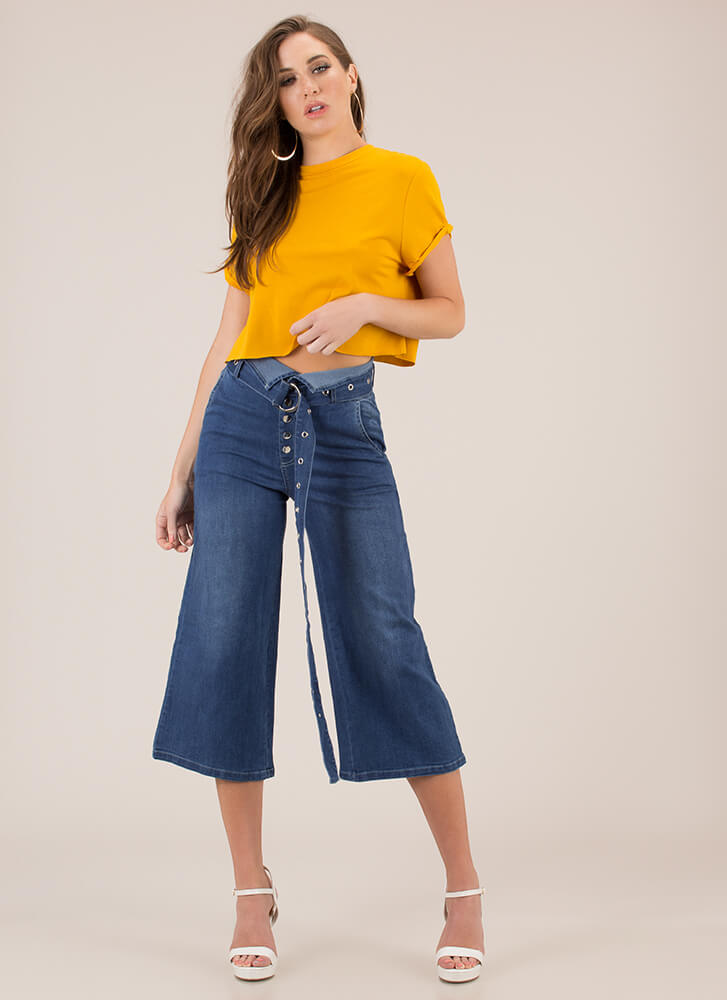 Day In And Day Out Boxy Crop Top MUSTARD