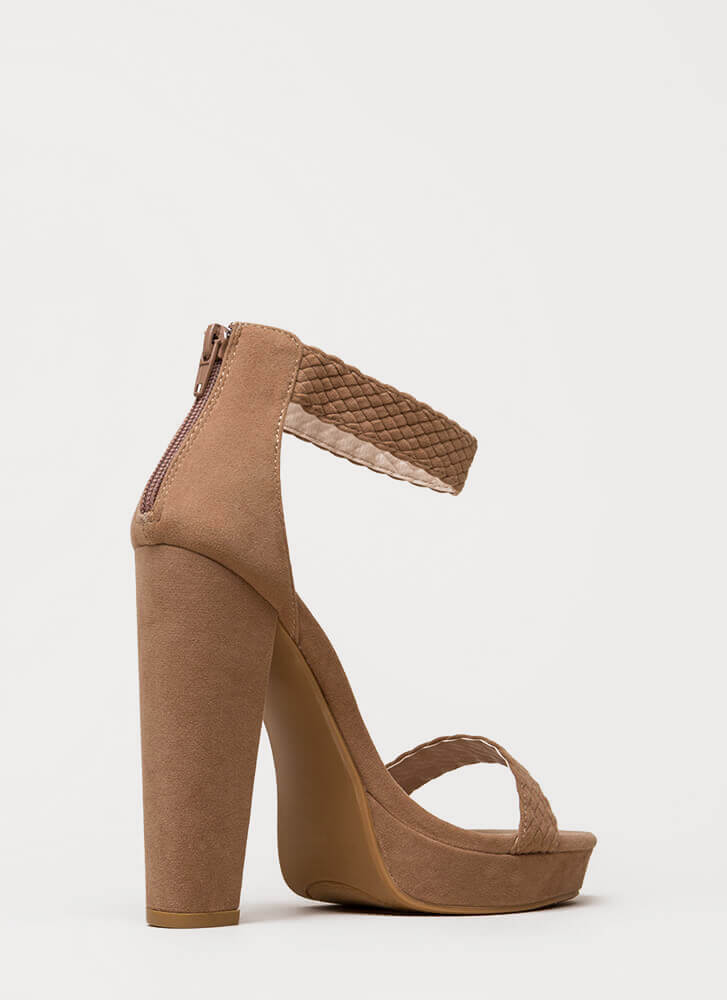 Get Good Braids Chunky Woven Platforms TAUPE