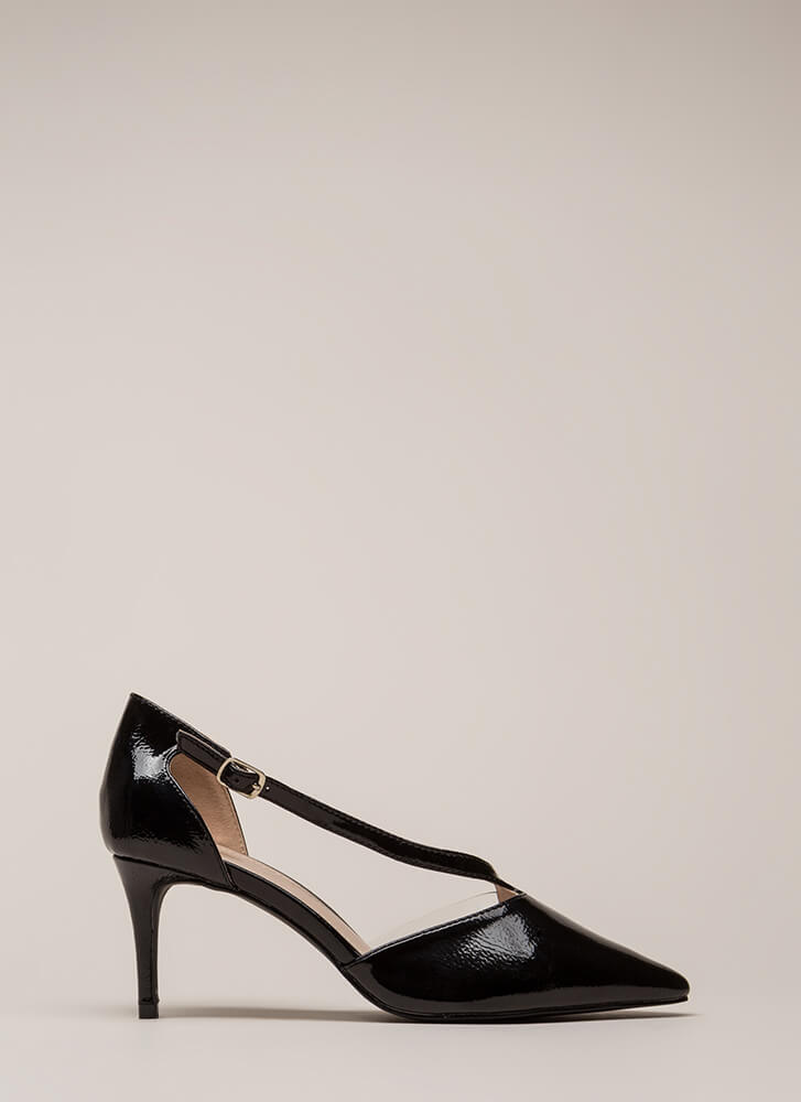 Get Your Point Across Illusion Heels BLACK
