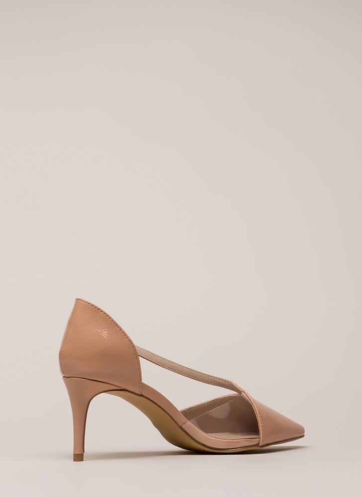 Get Your Point Across Illusion Heels TAUPE