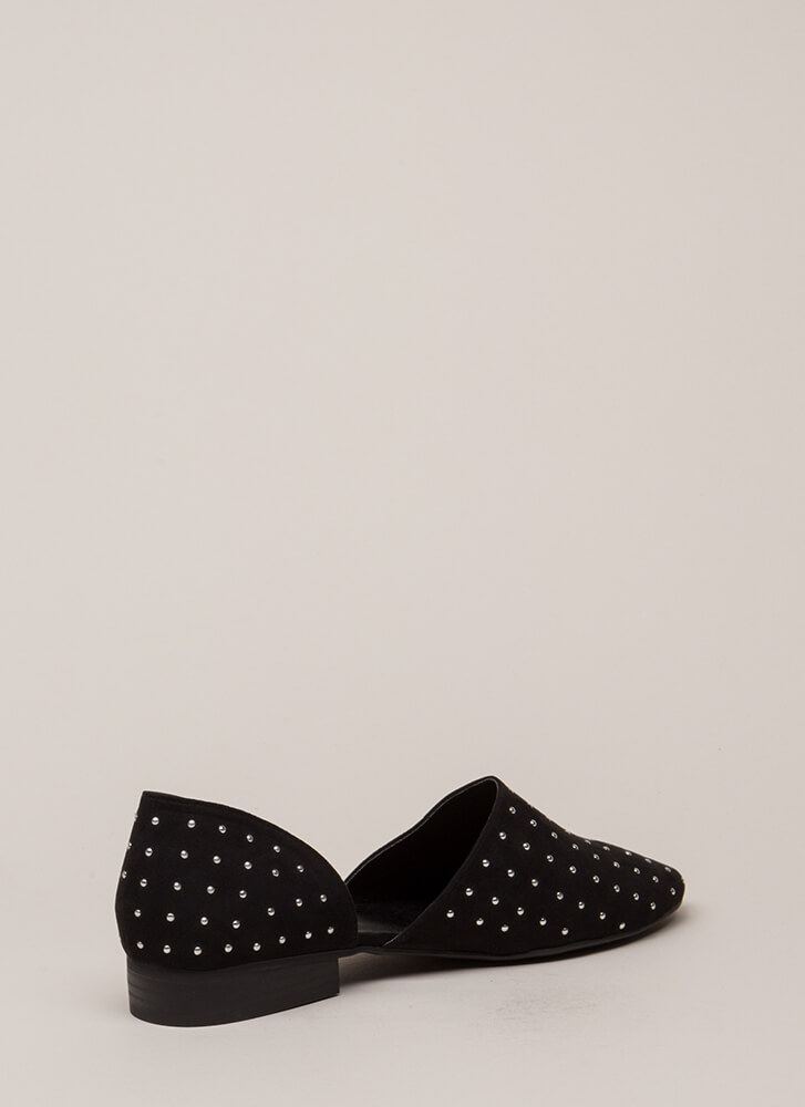 Connect The Dots Studded Flats BLACK