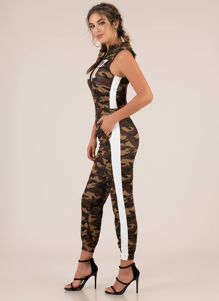 Baby Girl Camo Jogger Jumpsuit CAMO