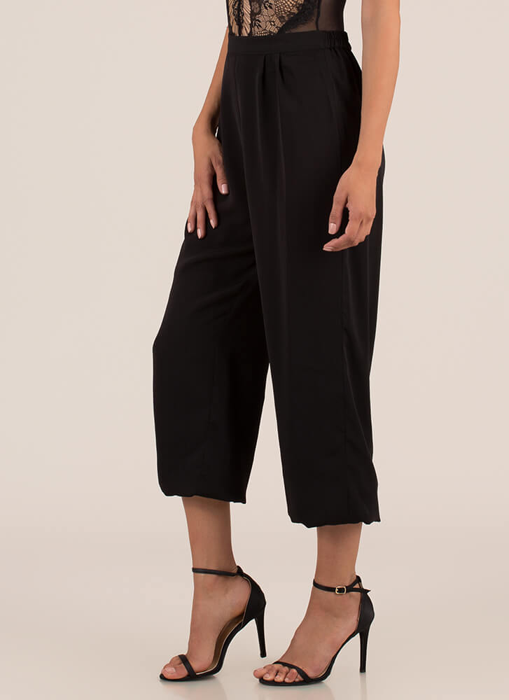 The Easy Life Pleated Jogger Pants BLACK