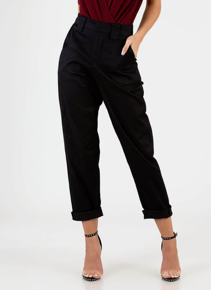 Taking Time Off Relaxed-Fit Trousers BLACK
