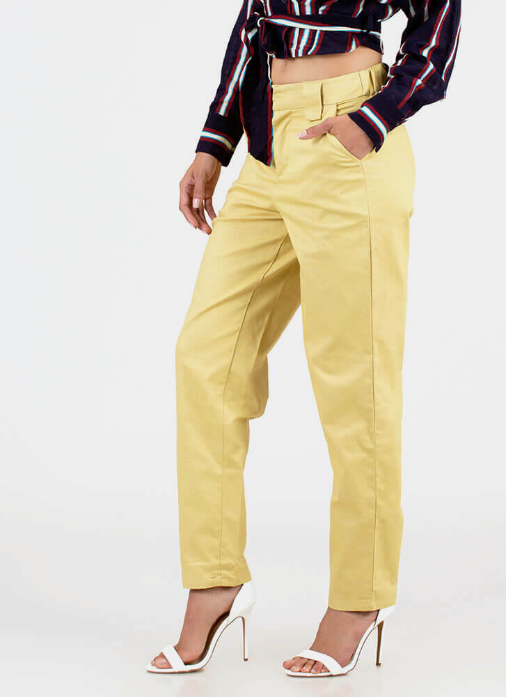 Taking Time Off Relaxed-Fit Trousers SAND