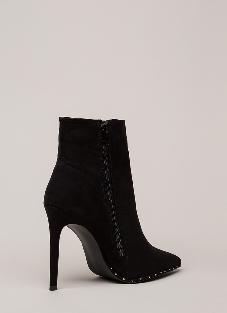 What's Your Point Studded Booties BLACK