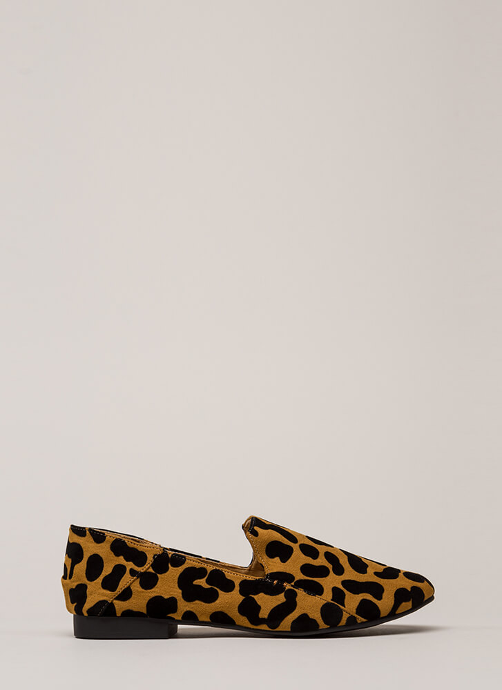 Walk On The Wild Side Leopard Flats CAMELBLACK