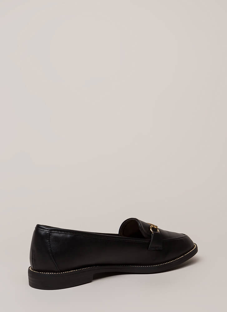 So Much Potential Studded Loafer Flats BLACK (Final Sale)