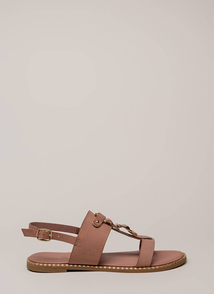 Buckled Beauty Strappy Sandals MAUVE