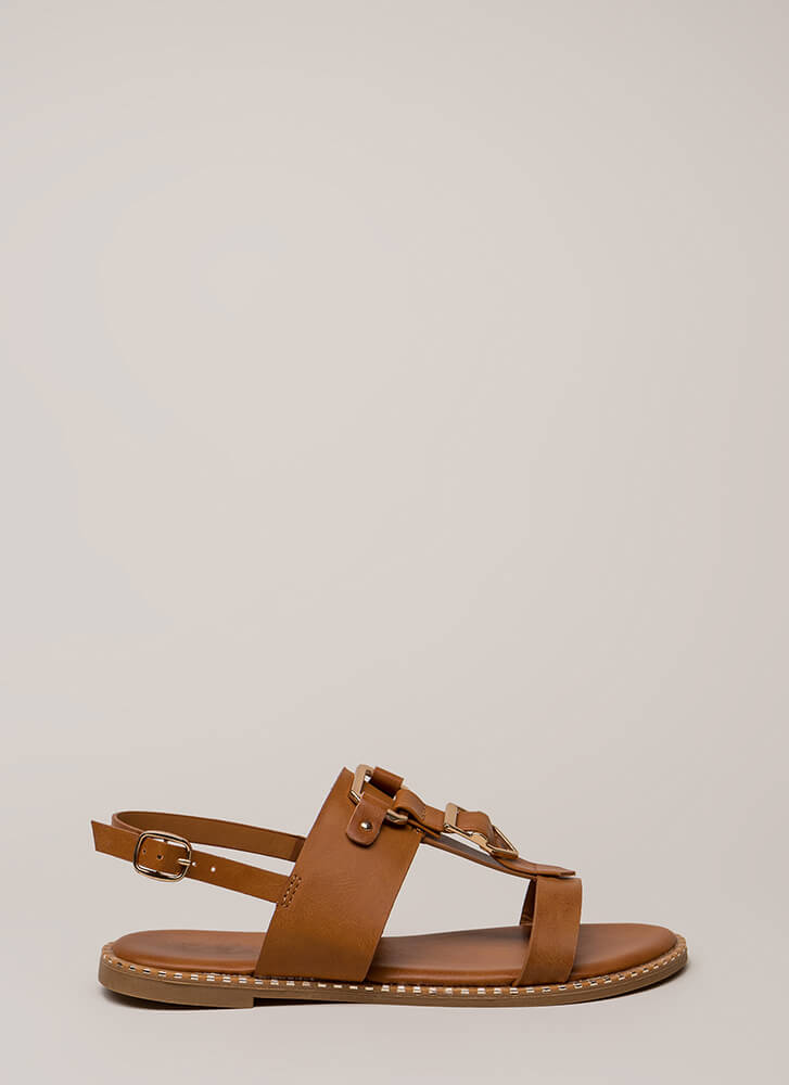 Buckled Beauty Strappy Sandals TAN
