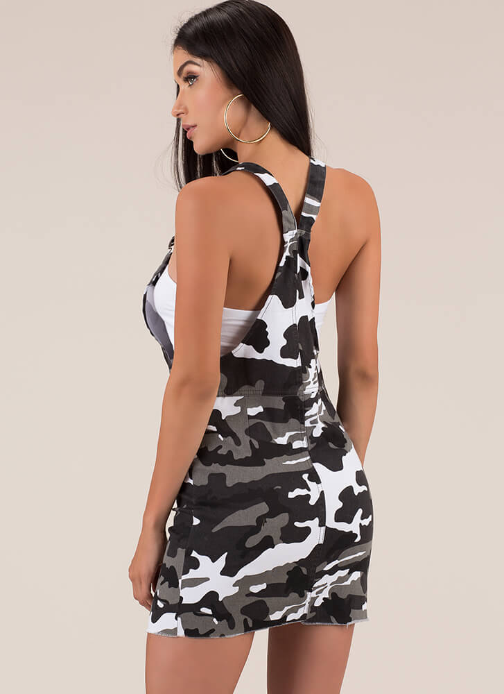 Calling All Camo Lovers Zip-Up Skirtalls CITY
