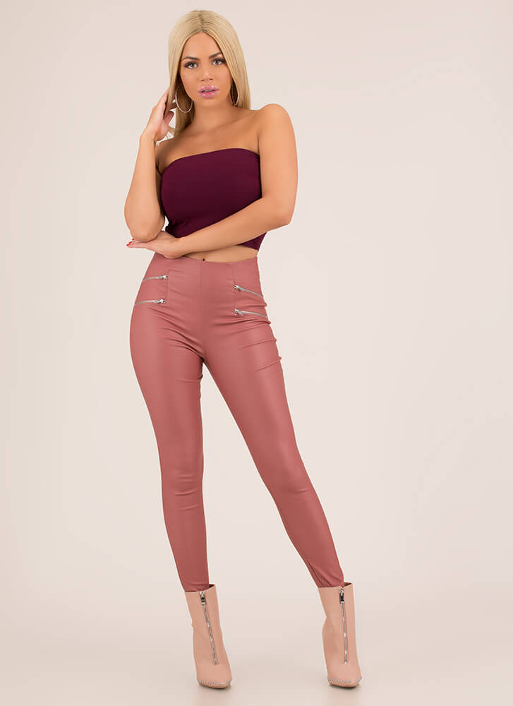 Each And Every Day Cropped Tube Top BURGUNDY