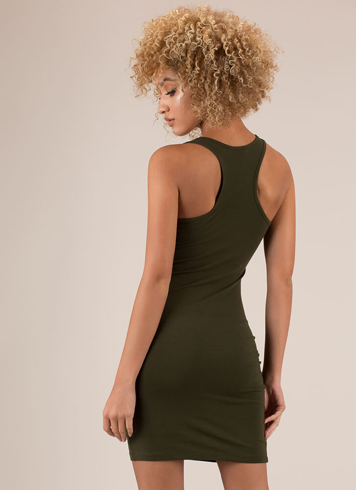 All You Need Racerback Tank Dress OLIVE