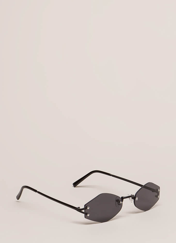 Too Cool For School Small Sunglasses BLACK
