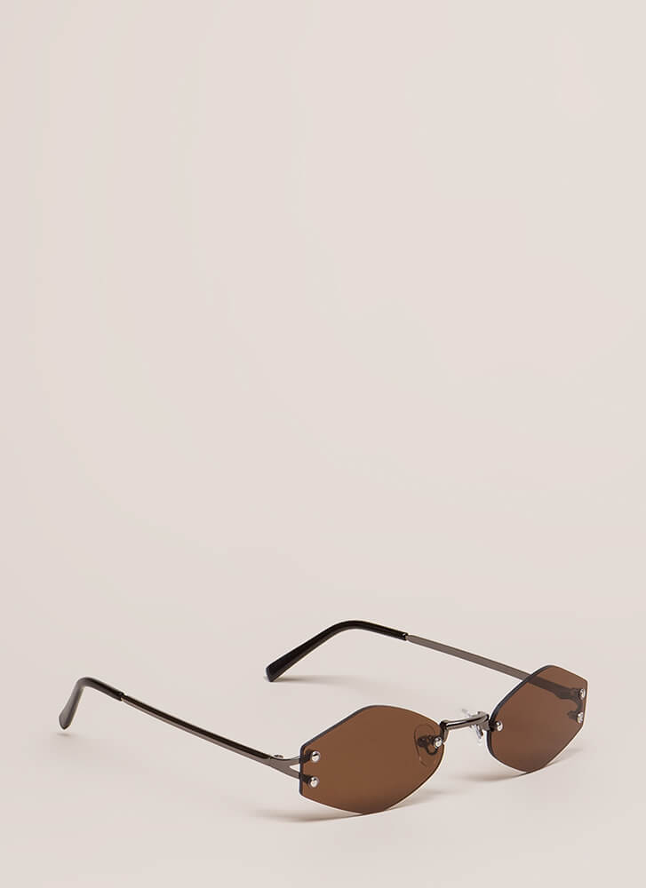 Too Cool For School Small Sunglasses BROWN