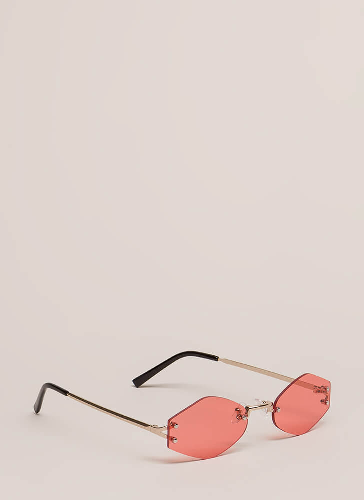 Too Cool For School Small Sunglasses RED