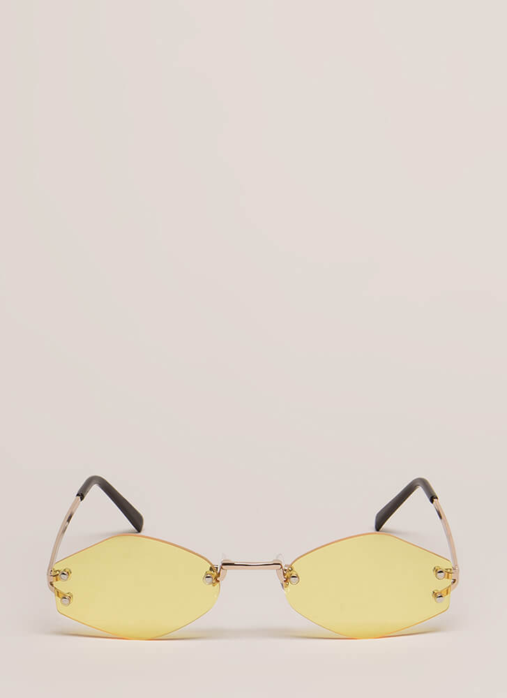 Too Cool For School Small Sunglasses YELLOW