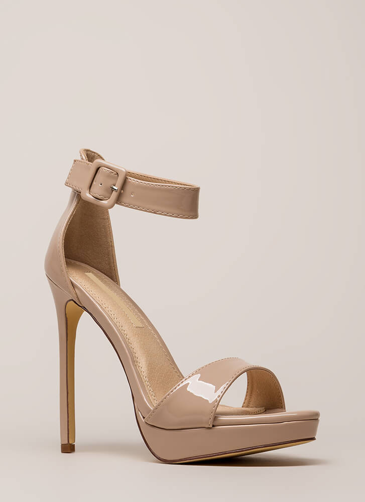 Into The Spotlight Faux Patent Platforms NUDE