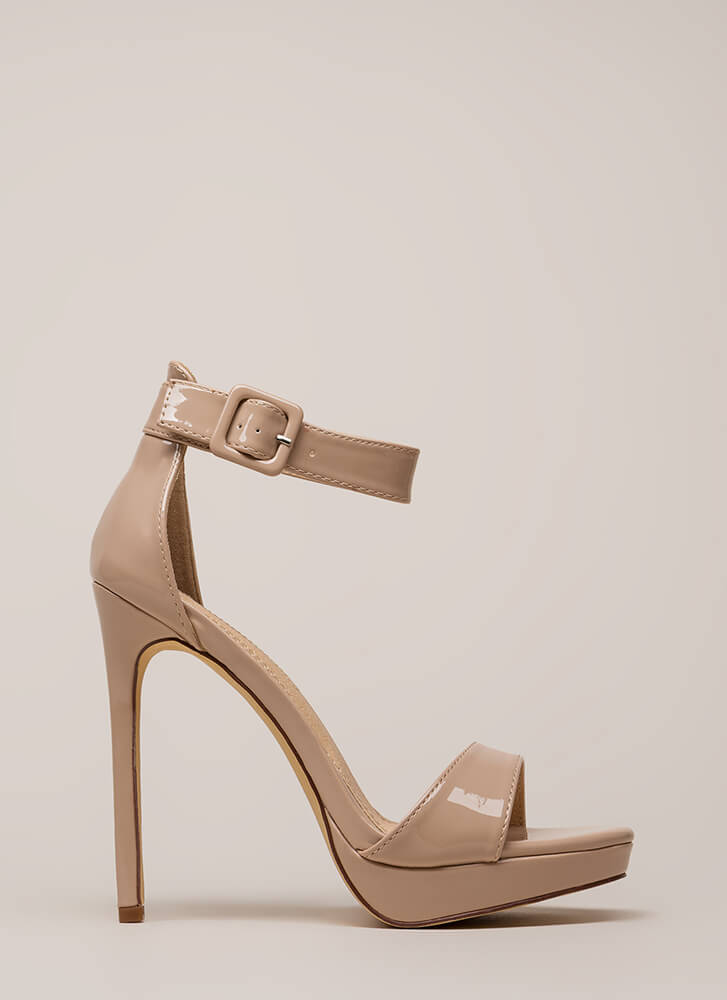 Into The Spotlight Faux Patent Platforms NUDE (You Saved $23)