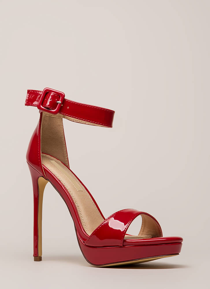 Into The Spotlight Faux Patent Platforms RED