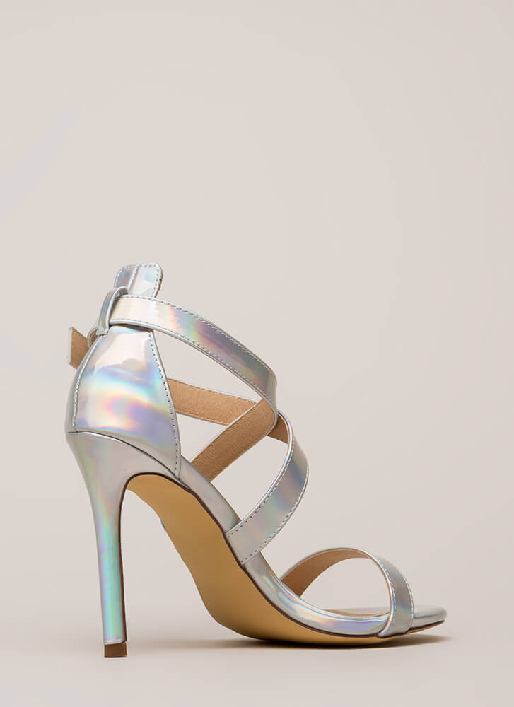 Cross The Street Holographic Heels HOLOGRAM