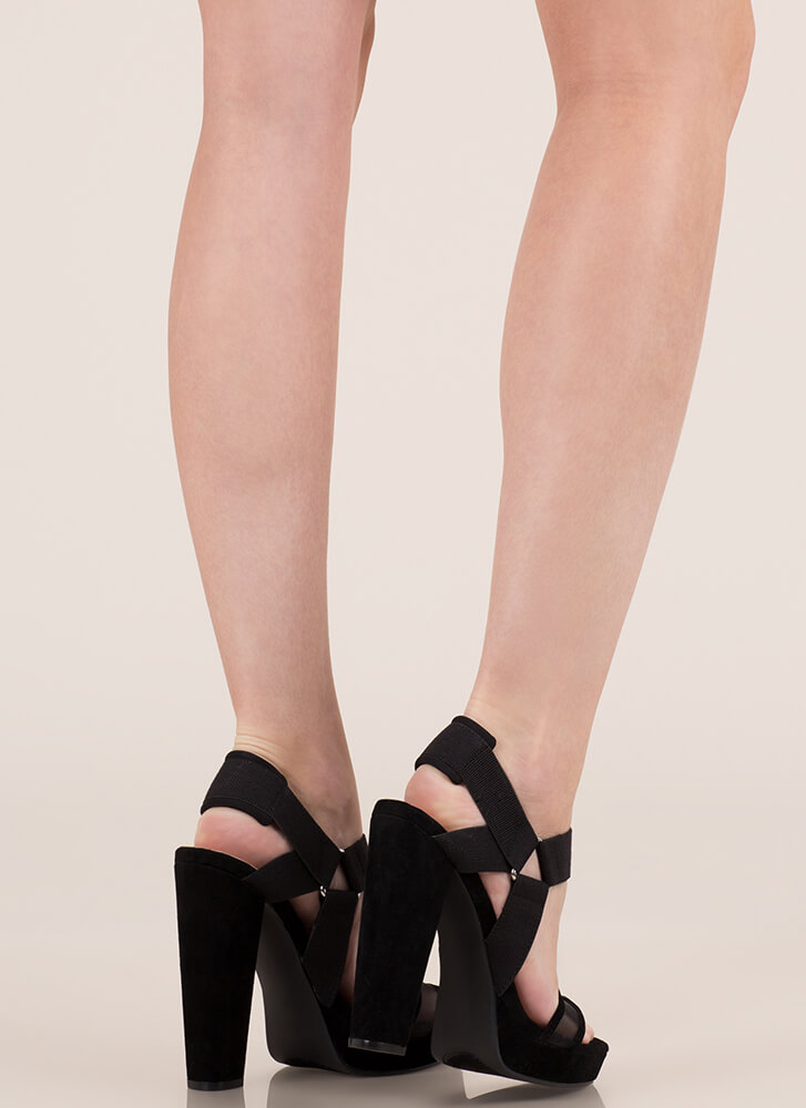 Harness My Talent Chunky Platforms BLACK