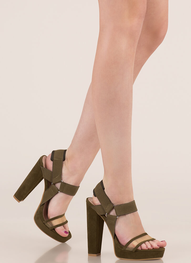 Harness My Talent Chunky Platforms OLIVE