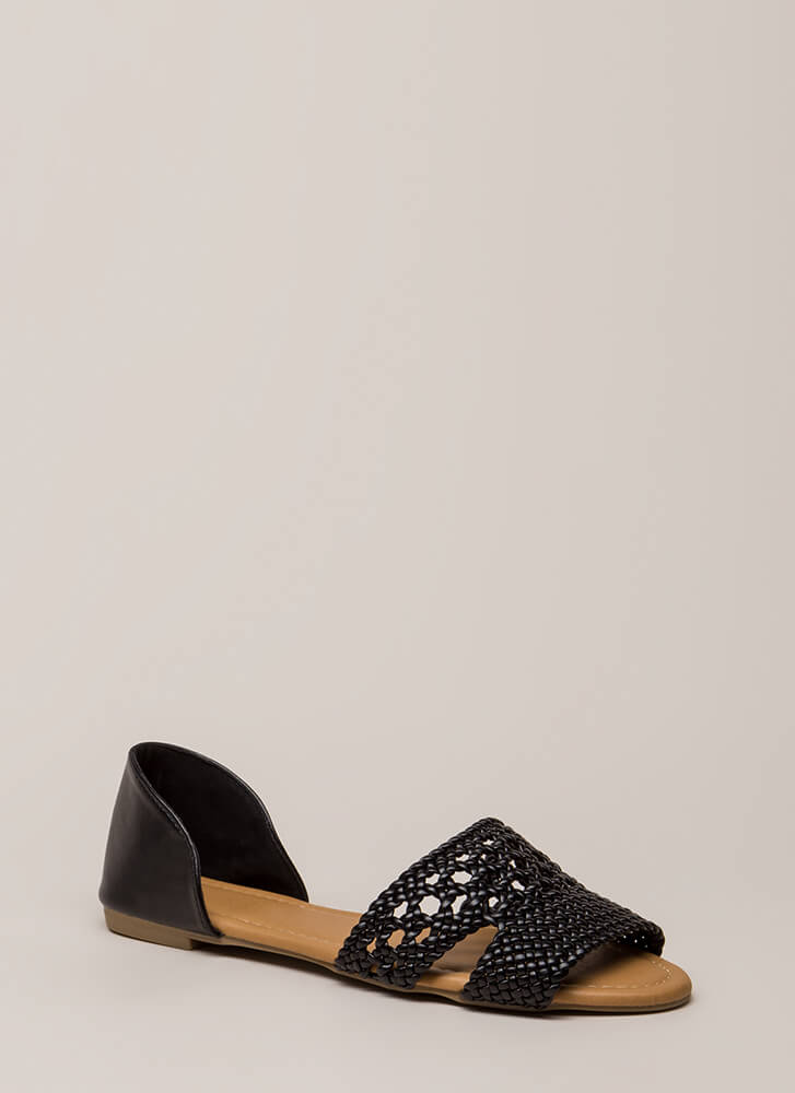 The Perfect Vacation Woven Sandals BLACK