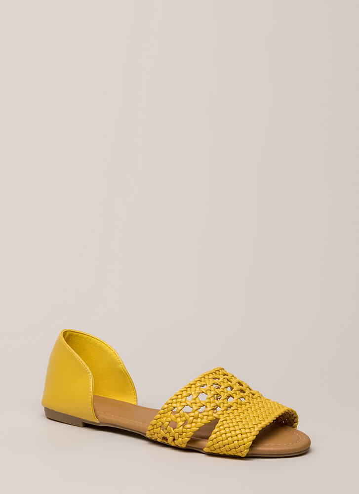 The Perfect Vacation Woven Sandals YELLOW