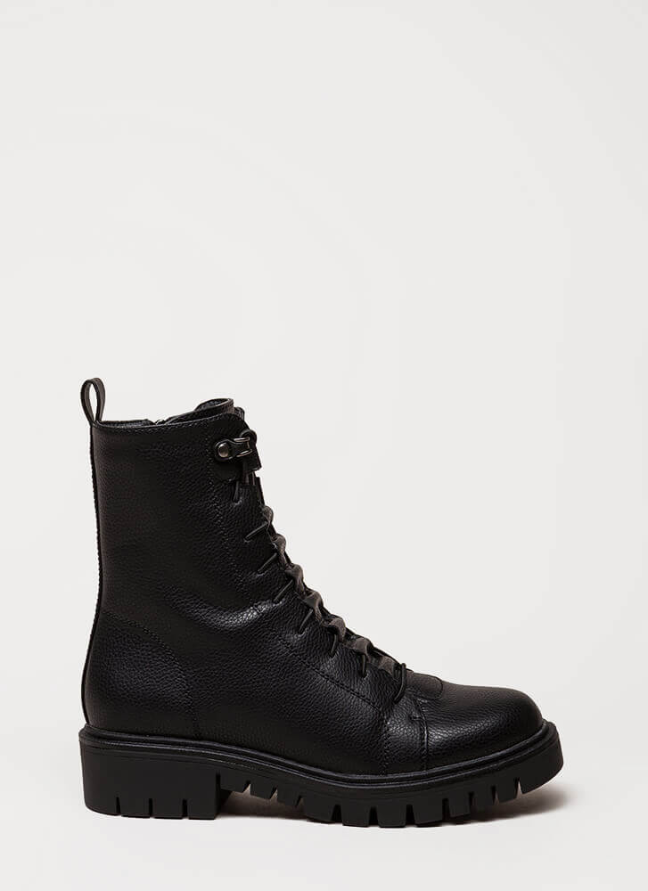 Fight For Your Right Combat Boots BLACK (Final Sale)