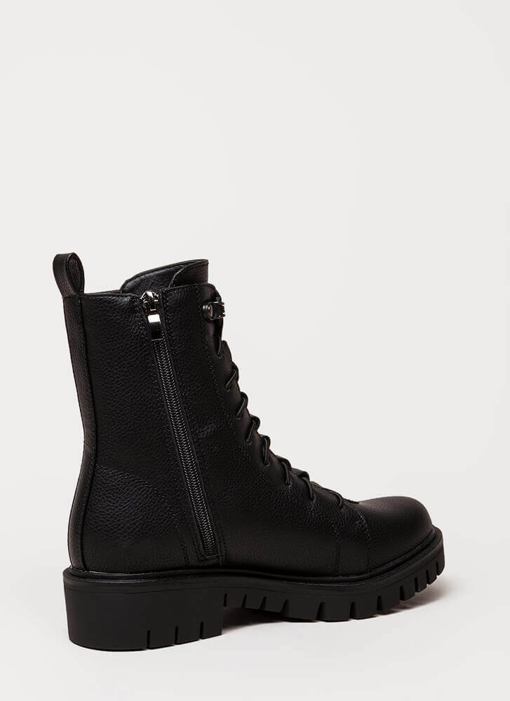 Fight For Your Right Combat Boots BLACK