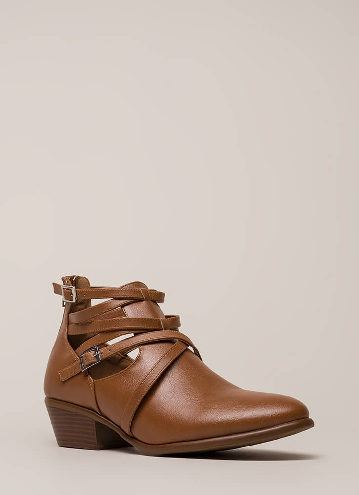 Small Victories Short Strappy Booties WHISKY (Final Sale)