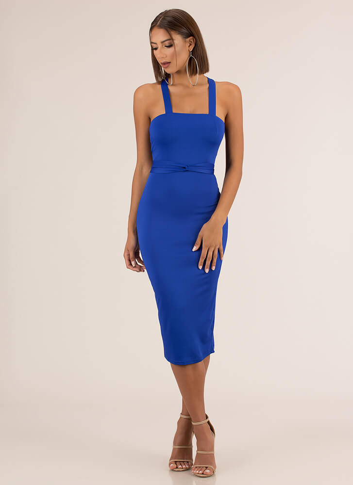 Strappily Ever After Lace-Back Dress ROYAL