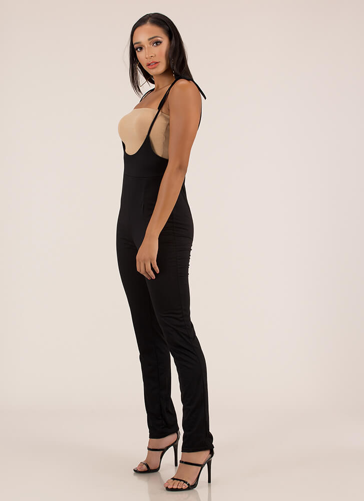 I'm Over The Moon Tied Jumpsuit BLACK (You Saved $12)