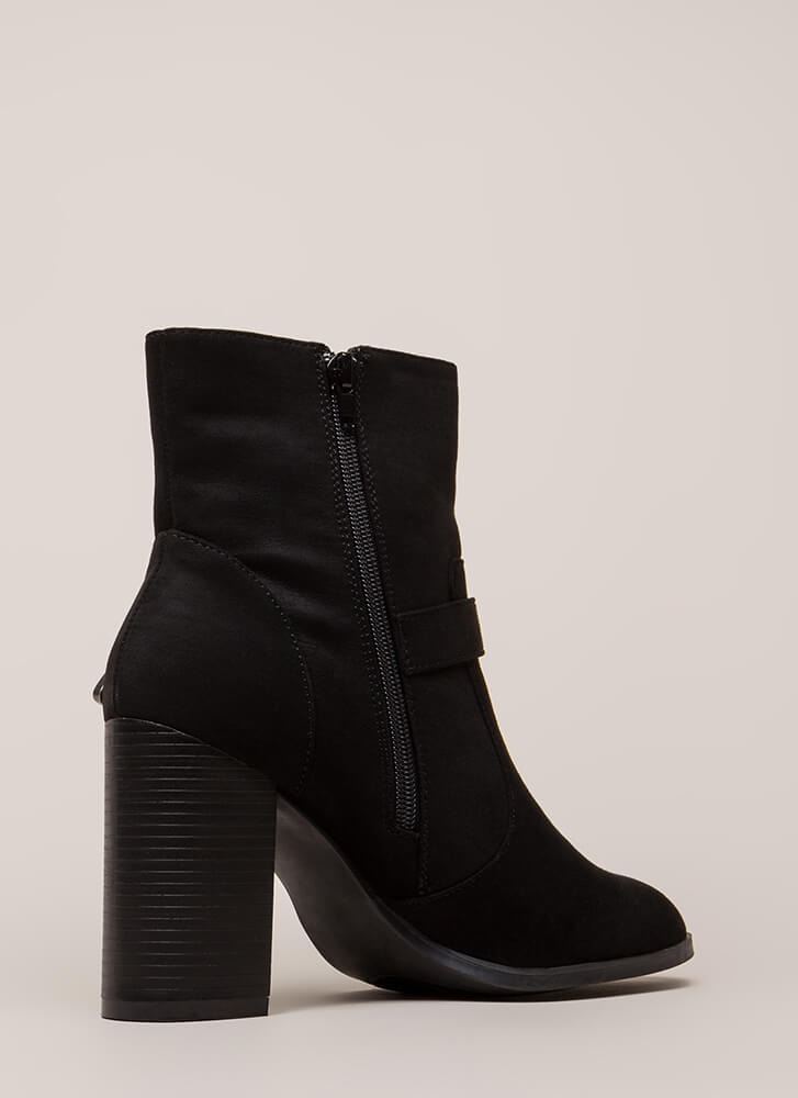 West Side Chunky Buckled Booties BLACK (You Saved $22)