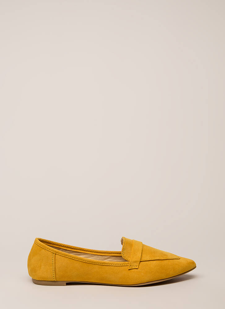 Fashion Influencer Pointy Smoking Flats MARIGOLD (Final Sale)