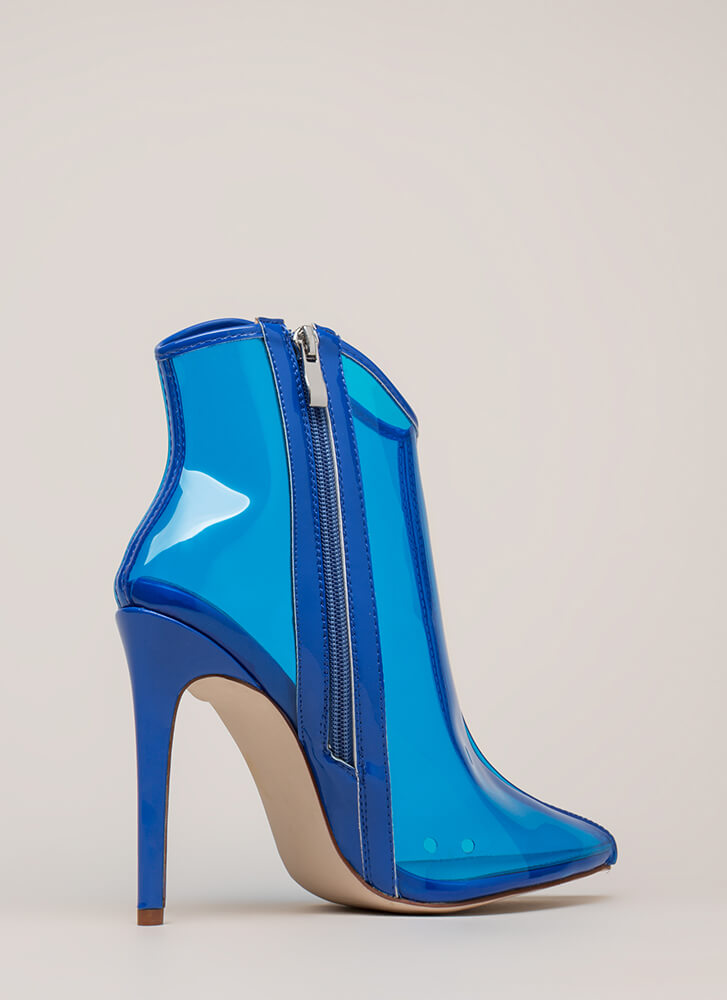 The Coast Is Clear Pointy Booties BLUE