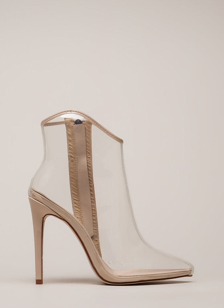 The Coast Is Clear Pointy Booties CLEARNUDE (You Saved $30)