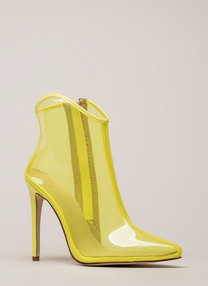 The Coast Is Clear Pointy Booties YELLOW