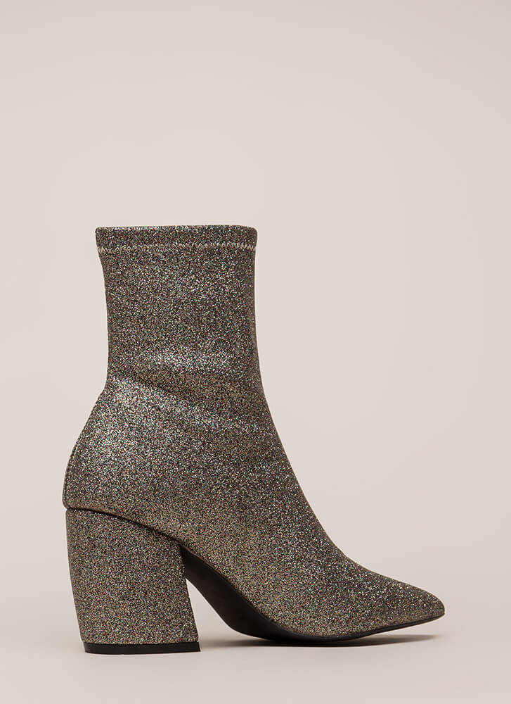 Glittery Nights Pointy Booties CHAMPMULTI