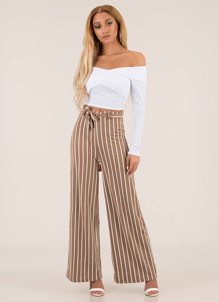 X Marks The Hot Off-Shoulder Crop Top WHITE