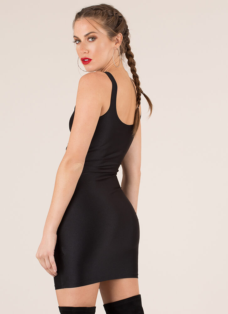 Too Hot To Handle Cut-Out Minidress BLACK